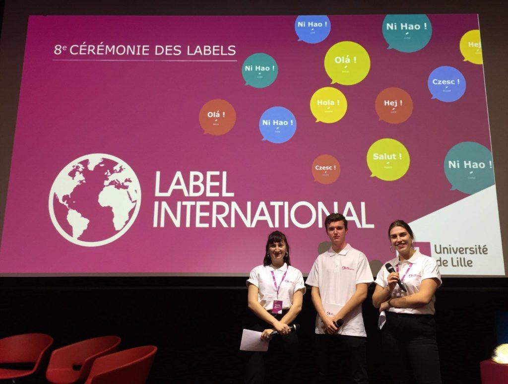 Marianne SARRAZIN, Médéric RAULT et Chloé GUITTET - Chargés de projets IAE EVENT à la cérémonie du label international